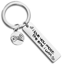 Kyпить I Love You Most The End I Win, , Stainless Steel Key Chain, Gift for Couple на еВаy.соm