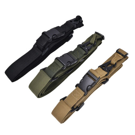 img-3Point Rifle Sling Hunting Belt Gun StrapOutdoor Survival Sling Swivels Str TQ0E
