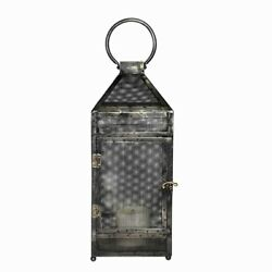 Kyпить Saltoro Sherpi Mesh Design Metal Frame Lantern With Latch Lock, Small, на еВаy.соm