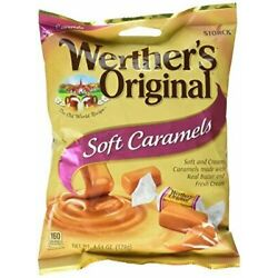 Werther's Original ''SOFT CARAMELS'' Chewy Caramel Candy- NEW/SEALED