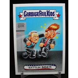Kyпить Joe Biden punches knocks Donald Trump out of White House Garbage Pail Kids на еВаy.соm