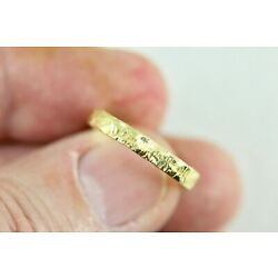 Kyпить Solid 18k Band Ring Size 7 - Hammer Textured Yellow Gold - Made in USA - 4 Grams на еВаy.соm
