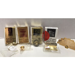 Clare Bell Brass Dollhouse Miniatures - New- 5 Accessories