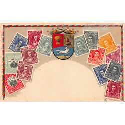 Kyпить Venezuela, Stamps on Early Embossed Postcard, Unused, Published by Ottmar Zieher на еВаy.соm