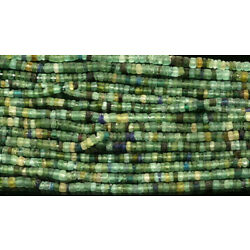 Kyпить Ancient Roman Glass Cylinder Heishi Beads Strand  6x4 mm Afghanistan Green на еВаy.соm