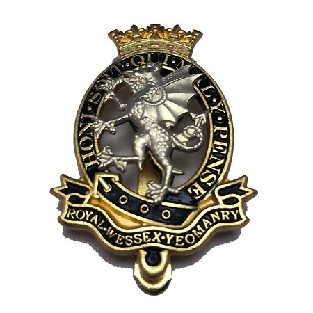 img-New Official Issue Royal Wessex Yeomanry Cap Badge / Beret Badge (Other Ranks)