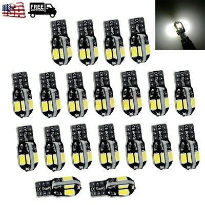 20x Canbus T10 194 168 W5W 5730 8 LED SMD Car Side Wedge Light Bulb Lamp White