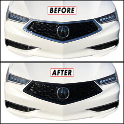 Kyпить Chrome Delete Blackout Overlay for 2018-20 Acura TLX Front Bumper Grill Trim на еВаy.соm