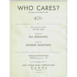 Kyпить IRA & GEORGE GERSHWIN Sheet Music WHO CARES? / OF THEE I SING 1931 Piano Vocal на еВаy.соm