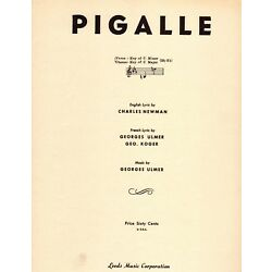 Kyпить GEORGES ULMER Sheet Music PIGALLE 1948 French & English  Piano Vocal на еВаy.соm