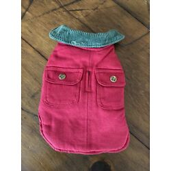 Up Country Chester Barn Jacket for Dogs - Red/Size 8