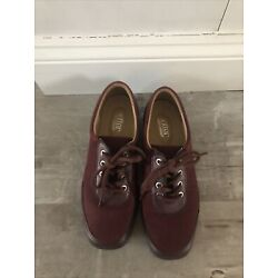 HOTTER COMFORT CONCEPT  8.5 Paradise Lace-Up Loafers Flats Oxford Burgundy