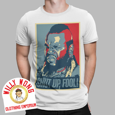 img-The A Team T-Shirt Mr T Shut Up Fool Pity TV Retro Movie Rocky 80s 90s Gift Tee