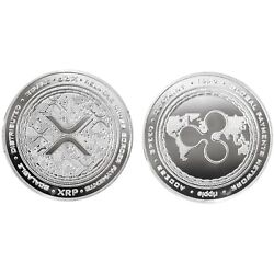 Kyпить 1.2 oz Physical Ripple XRP Iron Coin Token Round Chip Crypto Silver Color 44mm на еВаy.соm