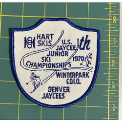 Kyпить 1970 HART SKIS ~ Vintage Ski Patch Winterpark Colorado Jaycees Jr Championship на еВаy.соm