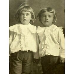 Kyпить Antique Cabinet Card Boys Brothers Twins Antique Black and White Photo на еВаy.соm