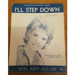 Kyпить RARE SHEET MUSIC - I'LL STEP DOWN // JUDY STONE на еВаy.соm