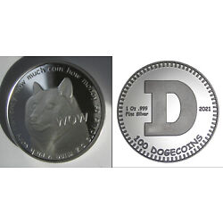 Kyпить Physical Dogecoin Doge .999 Fine Silver Coin Round 1 oz Shibe Mint Bitcoin 2021 на еВаy.соm