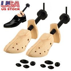 NEW One Pair 2-way Wooden Adjustable Shoe Stretcher for Men Women Size 9-13 USA