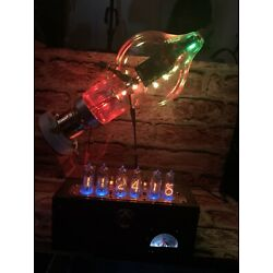 Kyпить Nixie IN-14 Tube Steampunk Clock. Westinghouse 450TH 15 RGB's Changing Colors!!! на еВаy.соm