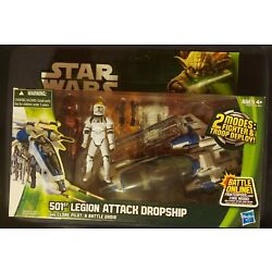 Kyпить Star Wars The Clone Wars 501st Legion Attack Dropship With Pilot  And Battle... на еВаy.соm