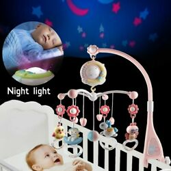 Musical Mobile Baby Rattle Toys Sleep Bed Bell Kid Crib Cot Song LED Light Gift
