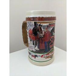 Kyпить Budweiser Beer Stein 1998 The Clydesdale At Home на еВаy.соm