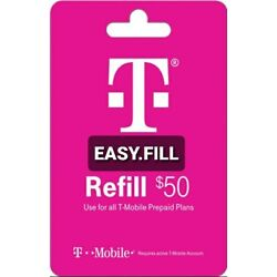 Kyпить T-Mobile Prepaid Refill Card $50 (Direct Refill) на еВаy.соm