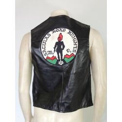 Kyпить Vintage 1970s Harley Davidson Leather MC Vest Salinas Road Knights Size 40  на еВаy.соm