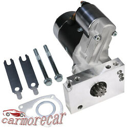 Black Hi Torque Mini Starter For Small & Big Block Chevy 153 168Tooth Compatible