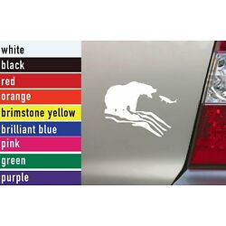 Fishing Grizzly 1474 Vinyl Sticker Decal Car-Truck Laptop