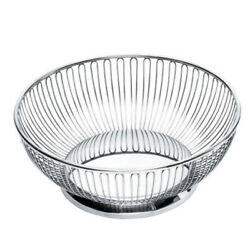 Alessi Wire Centerpiece Fruit Basket in 18/10 Stainless Steel Made In Italy Used