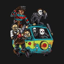Classic Horror Monsters in Scooby Doo Mystery Machine