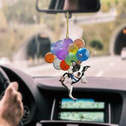 Kyпить Boston Terrier Dog Fly With Bubbles Funny Gift Car Hanging Ornament на еВаy.соm