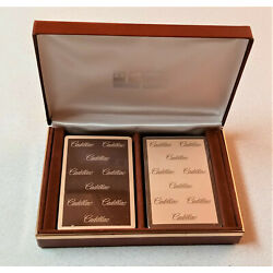 Kyпить Amazing Vintage Congress Cadillac Playing Cards in Hard Padded Case Sealed NOS на еВаy.соm
