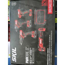 Skil CB7368A-20 12V Brushless 5-Tool Combo Kit +2 Batteries w/Charger Bluetooth
