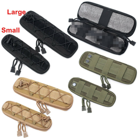 img-Men Molle Tactical Knife Pouches Military Waist Bag Easy Carry Zippered Bag S L