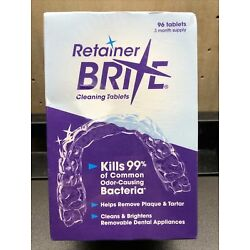 Retainer Brite Cleaning Tablets 96 Tablets 3 Months Supply exp.10/23 New