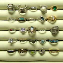RESALE RINGS costume jewelry lot - vintage to now cocktail statement rhinestones