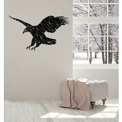 Wall Sticker Vinyl Decal Eagle Silhouette Geometric Diagonal Picture (n1444)