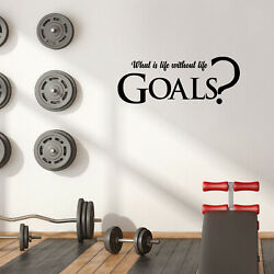Vinyl Wall Art Decal - What Is Life Without Life Goals - 15'' x 39'' - Fun Quote