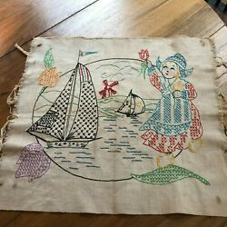 Vintage Embroidered Table Runners/Toppers