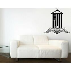Wall Sticker Vinyl Decal Flag Eagle Laundry Room Logo Cleaning Wash Dry (n1476)