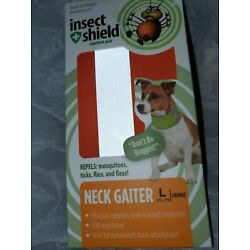 Insect Shield Neck Gaiter For Large Dogs Orange Gray NEW