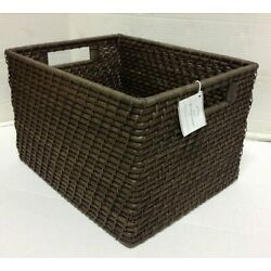 Pottery Barn Clive large tightweave utility toy laundry storage basket bin