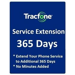 TracFone 1 Year 365 Days Service Extension Digital Refill for BYOP