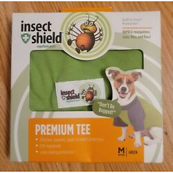 DOG INSECT SHIELD GREEN Insect Repellant T-Shirt: Size M