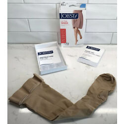 Women's S Jobst Thigh High Compression Stockings Ultra Sheer 15-20 Natural