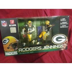 McFarlane Toys NFL 2-Pk Green Bay Packers, Rodgers & Jennings Super Bowl Champs