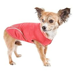Pet Life  Active 'Pull-Rover' Premium 4-Way Stretch Performance Hoodie XS Red